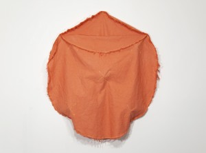 Orange Structure One, Dyed Canvas, 38 x 43 x 5, 2013