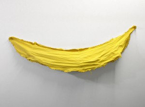 Banana Structure One, Dyed Canvas, 70 x 18 x 5, 2012