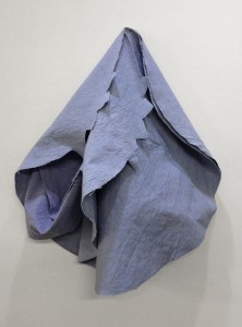 Blueberry Structure One, Dyed Canvas, 2012