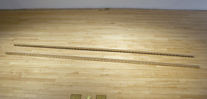 Sawteeth: Two Types, Wood and Paper, 84 x 2 x 1/4 ea, 2009