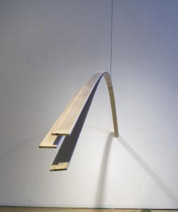Hang, Wood and Yarn, 2 x 96 x 72, 2009