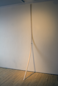 Strap, Wood and Yarn, 2 x 96 x 36, 2009
