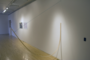 Bow, Wood and Yarn, 2 x 96 x 72, 2009