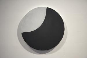 Moon Piece (Washington), Oil on Canvas, 16 x 16, 2013