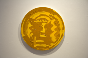 Thick Gold Coin (Justinian), Oil on Canvas, 16 x 16, 2010