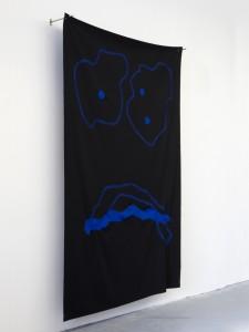2014; canvas, thread, paint, steel; 92 x 56